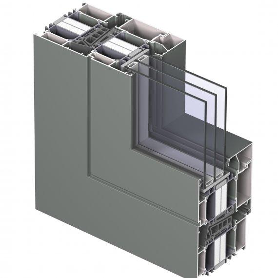 Ventana de aluminio serie CS104